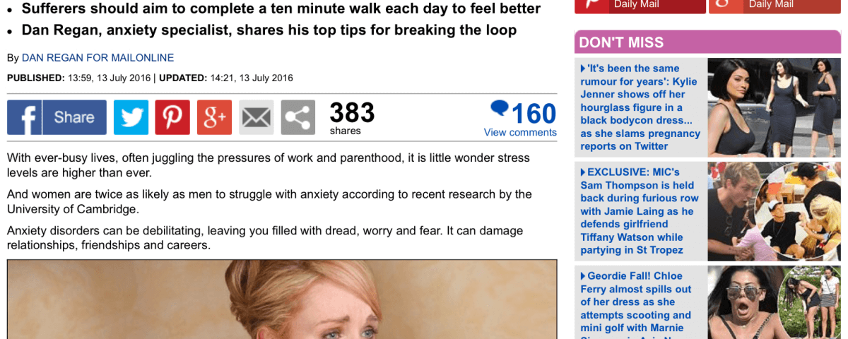 Daily Mail Anxiety help article