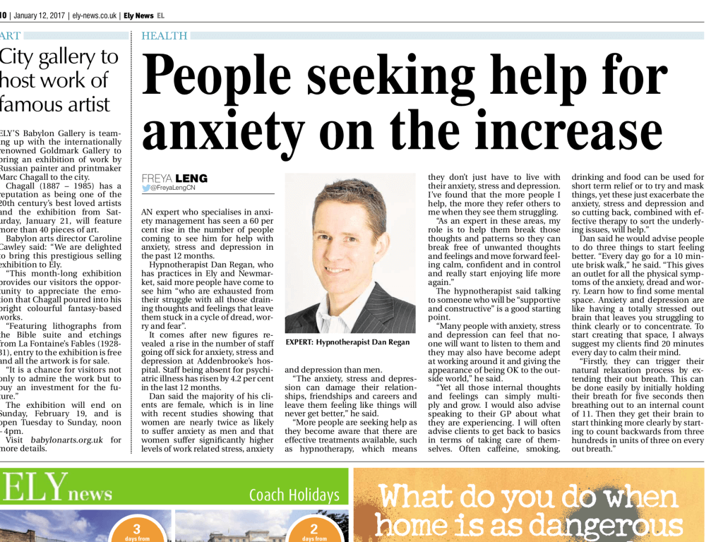anxiety and stress ely news